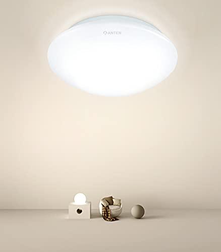 Plafon LED de Techo Anten HONGO | 24W Redondo Ø27x8cm 4000K 2000 lúmenes | Salón Lamparas Moderna | para Sala,Salon,Dormitorio Juvenil Infantiles, Cocina, Comedor, Balcón 2021