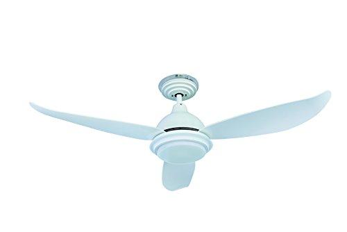 Energiebesparende plafondventilator Raja wit met dimbare ledverlichting, 122 cm, inclusief afstandsbediening