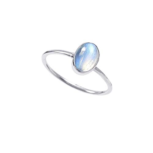 Neerupam Collection plata de ley ovalada Blue Estrella azul