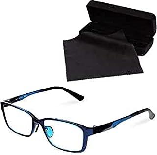 【Amazon限定ブランド】 MIDI BLOOM (ミディブルーム) ブルーライトカットメガネ 度なし おしゃれ メンズ pcメガネ ブルーライトカット ブルーライト HEV90%カット メガネ カラー:ロイヤルブルー (MBL11,C3,+...