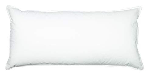ZOLLNER Almohada de plumón de Ganso y Funda de algodón Mako, 40x80 cm