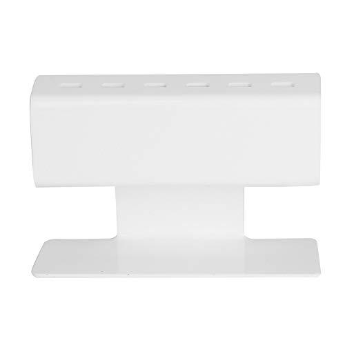 Pince à épiler Support de pince à épiler en plastique Pince à épiler 6pcs Positions du support (Couleur : Blanc)