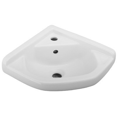 Barclay 4-750WH 14-Inch Corner Wall-Hung Basin, White