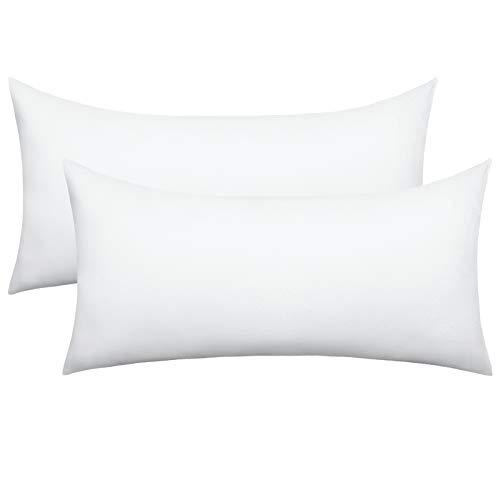 eletecpro Funda de almohada de 40 x 80 cm, 2 unidades, color blanco, 100% microfibra, con cierre de hotel, muy suave, no destiñe, hipoalergénica, respetuosa con la piel, en gran selección de colores