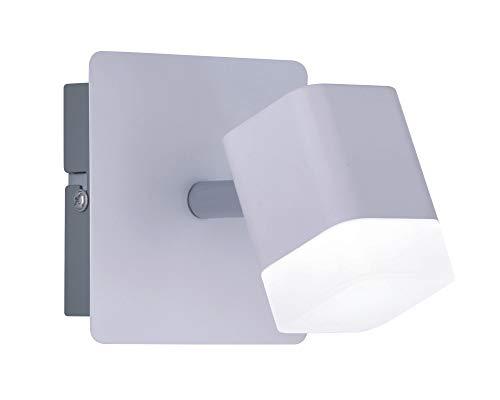 Reality Foco decorativo moderno Roubaix, LED integrado 80% ahorro de energía, 4 W, Blanco mate