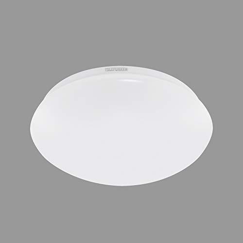 Telefunken - LED Deckenleuchte, Badezimmerlampe inkl. Bewegungsmelder, inkl. Dauerlichtfunktion, IP44, 15 Watt, 1.500 Lumen, 4.000 Kelvin, Rund, Weiß, Ø 27,8cm