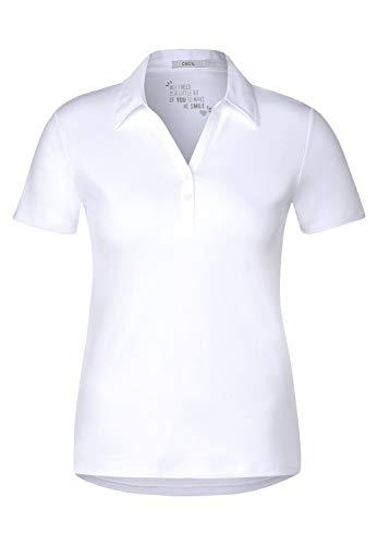 Cecil Damen 313339 Polo Poloshirt, White, X-Small