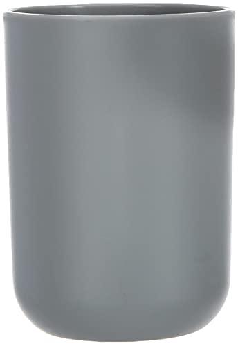 WENKO Vaso de dientes Brasil gris - a prueba de rotura, Plástico (TPE), 7.3 x 10.3 x 7.3 cm, Gris