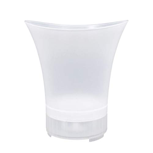 Yardwe LED Eiskübel Wireless Lautsprecher Weinkühler Beleuchtet Eiskübel 7-Farben-Champagner Bier Eiskühler für Party Bar Home Hochzeit 5L