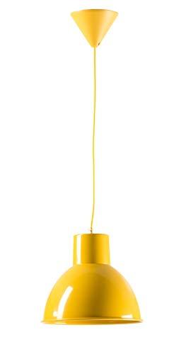 Lámpara conlgante amarilla, Mostaza 26 x 23 cm