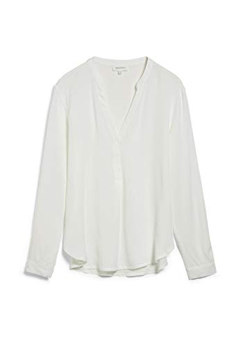 ARMEDANGELS CEYLAAN - Damen Bluse aus LENZING™ ECOVERO™ L Off White Bluse Langarm Relaxed Fit