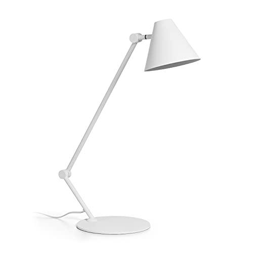 EXO Lighting - Lámpara de mesa MANTIS blanco portalámpara E27.