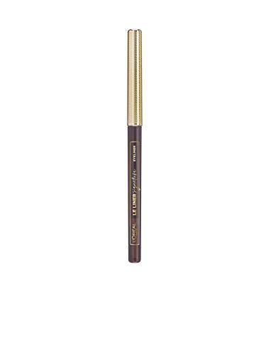 L'Oréal Paris Le Liner Signature 05 Brown Silk, präziser & langanhaltender Eyeliner, Stiftform mit herausdrehbarer Mine, wisch- und wasserfest