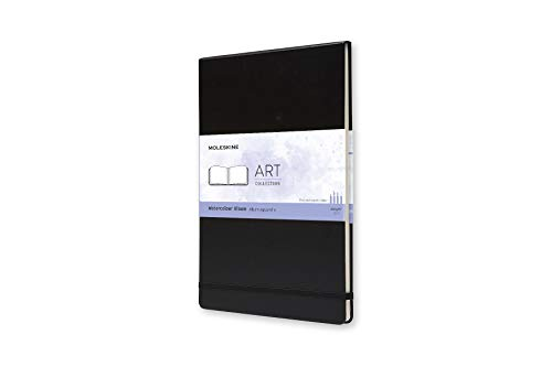 Moleskine Art Watercolor Album, Hard Cover, A4 (8.25' x 11.75') Plain/Blank, Black, 60 Pages