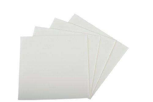 Quicky Lot de 4 packs de 50 serviettes en fibre Airlaid simple épaisseur Pliage en 4 Blanc 40 x 40 cm