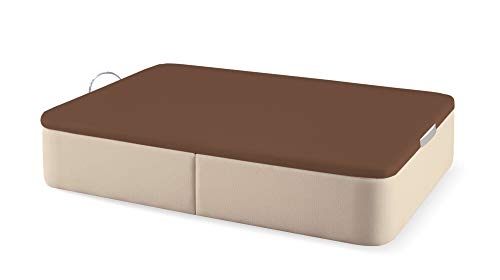 Naturconfort Canapé Abatible Tapizado Tapa 3D Chocolate Low Cost Beige 80x190cm Envio y Montaje Gratis