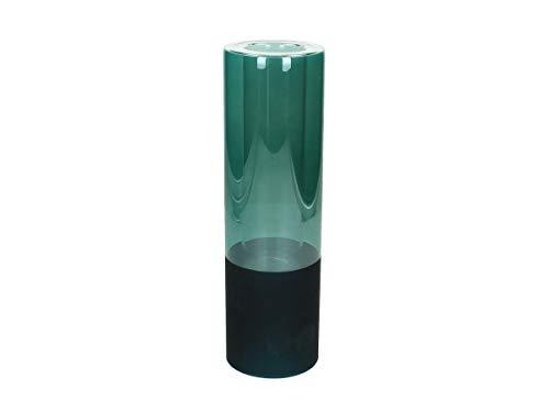 J. Keerste BV vaas, glas, Petrol blauw, 7,5 x 7,5 x 25 cm
