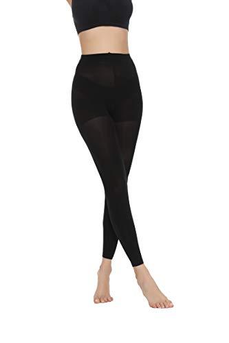 MANZI 1-3 Paar Super Weiche Mode Damen Bequem Strumpfhose 70 Den, 2 Paar Schwarz Fußlos, S