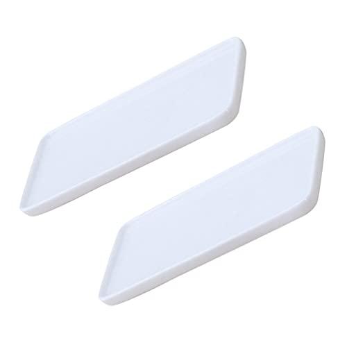 Cabilock 2Pcs Keramik Eitelkeit Tablett Rechteckige Badewanne Tablett Bad Kosmetik Make- Up Halter für Tissue Kerze Handtuch Pflanze Schmuck Ring Kommode Veranstalter