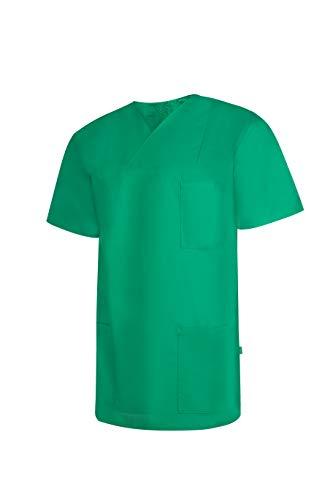 Clinotest OP-Oberteil/Faltkragenhemd/Schlupfkasack für den Bereich Medezien und Pflege, OP-Kleidung, Unisex, 2 unterschiedlichen Größen (VI, Forstgrün)