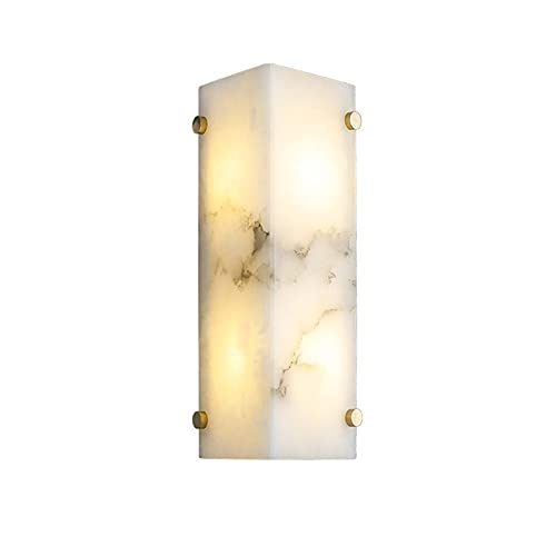 YXLMAONY Lámpara de pared moderna de metal de mármol con fuente de luz G9 de doble cabezal, cuerpo de lámpara de cobre, lámparas de decoración del hogar, adecuado para dormitorios, salas de estar, hot