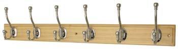 Headbourne HR0840H kapstok, 6 haken 685 x 130 x 65mm Helder