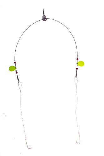 Bullet Weights PCHRIG-RED Perch Fishing Rig, Red