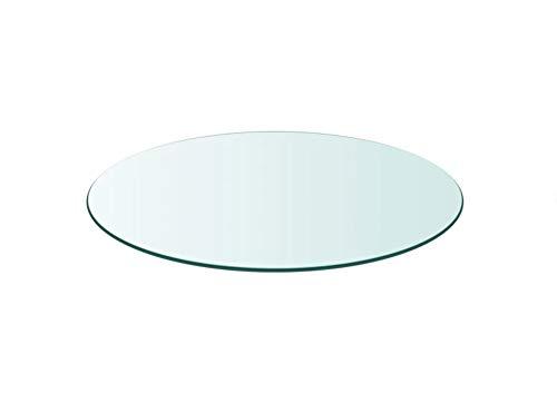 Tablero de mesa de cristal templado redondo de 700 mm, superficie de mesa redonda de cristal resistente, para mesas de comedor, mesas de jardín