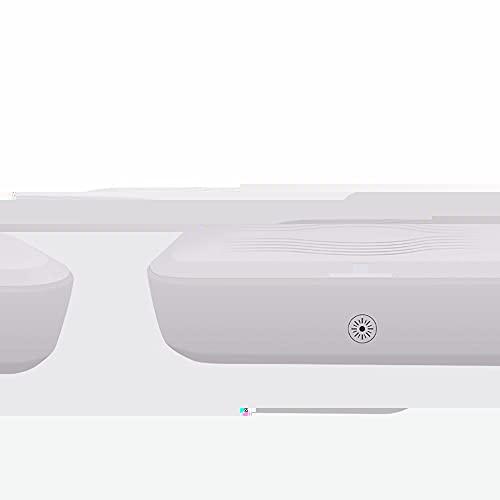 LAMCE Caja de desinfección de teléfonos móviles, Dispositivo de desinfección de Carga inalámbrica, Caja de esterilización y desinfección multifunción Ultravioleta, Caja de Almacenamiento de herramien