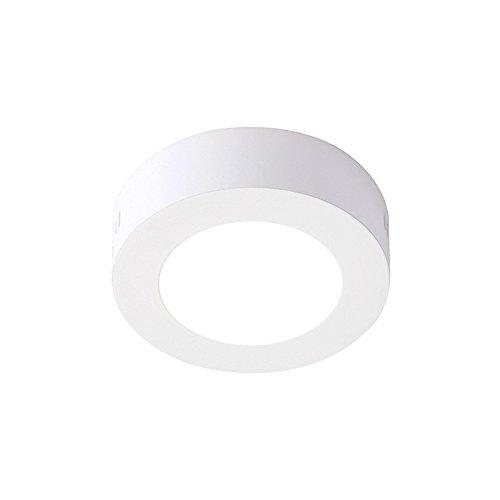 Plafón LED 6W Circular Color Blanco Iluminacion de Techo Interior Superficie Equivalente a 50w de Incandescencia 520 Lúmenes Ahorro 80% Encendido Instantaneo