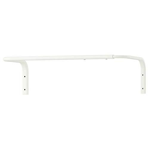 Mulig - Perchero para barra de ropa (60 – 90 cm, carga máxima, 15 kg, 60 – 90 cm), color blanco