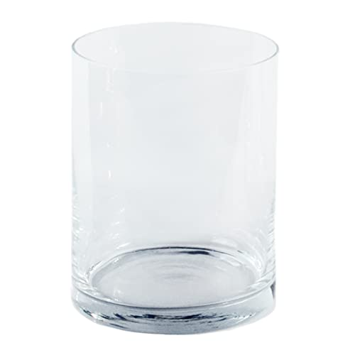 Varia Living Glas-Vase Verschiedene Größen | Gross & klein | zylindrisch | wunderschön als runde Blumenvase | Zylinder auch als Windlicht Deko mit Kerze einsetzbar | klar (Ø 20 cm/H 25,5 cm)