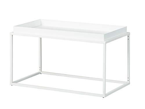 Inter Link Design salontafel in industriële stijl metaal wit geschikt voor binnen en buiten