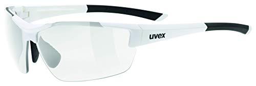 uvex Unisex– Erwachsene, sportstyle 612 VL Sportbrille, selbsttönend, white/smoke, one size