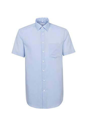 Seidensticker Herren Business und Freizeit Hemd Regular Fit, Blau (Hellblau 48), 42 (Herstellergröße: Large)