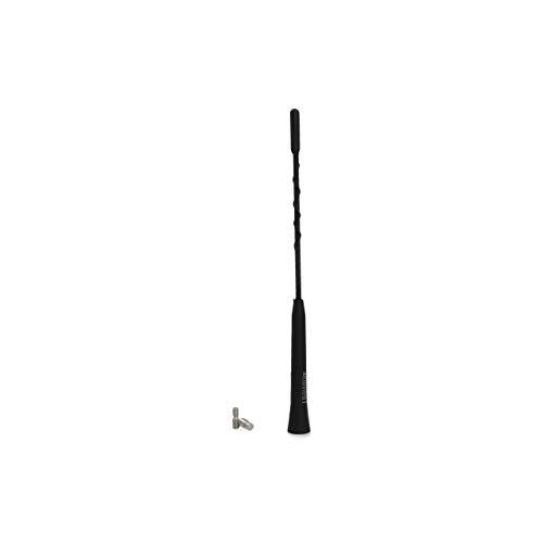 Cartrend 10506 Universal Kurzstab-Dachantenne Autoantennen-Adapter Autoradio 23 cm Antennenstab Tuning Auto Antenne schwarz