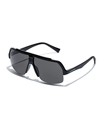 HAWKERS BAVE Gafas de Sol, Black Dark Grey, Talla única Unisex Adulto