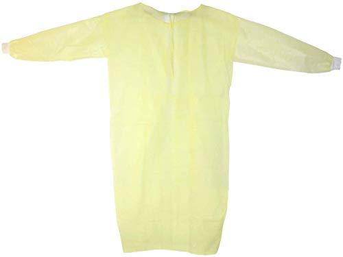 Schutzkittel Mrsa Pp Lot de 100 chemises jetables en polyéthylène Jaune 139 x 139 cm