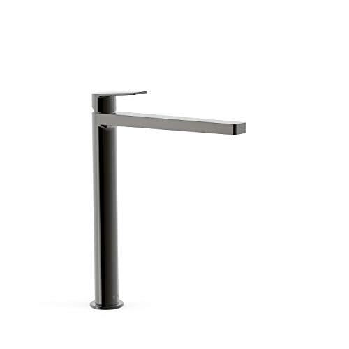 TRES Exclusief Project Extra hoge wastafel eenhendel armatuur metallic zw