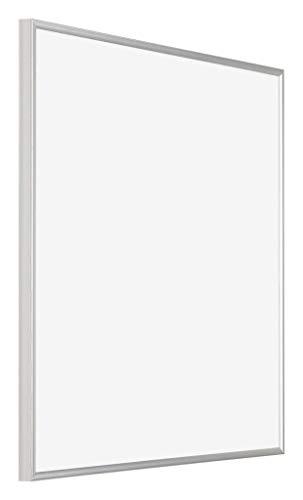 yd. Your Decoration - 40x40 cm - Bilderrahmen von Kunststoff mit Acrylglas - Ausgezeichneter Qualität - Silber - Antireflex - Fotorahmen - Evry.
