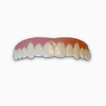 Imako Cosmetic Teeth 1 Pack. (Small, Bleached) Uppers Only- Arrives Flat. Fit at Home Do it Yourself Smile Makeover!