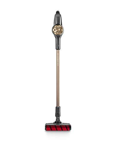 De'Longhi XLM418.GCG Escoba eléctrica sin Cable y sin Bolsa Recargable, plástico, Negro y Dorado