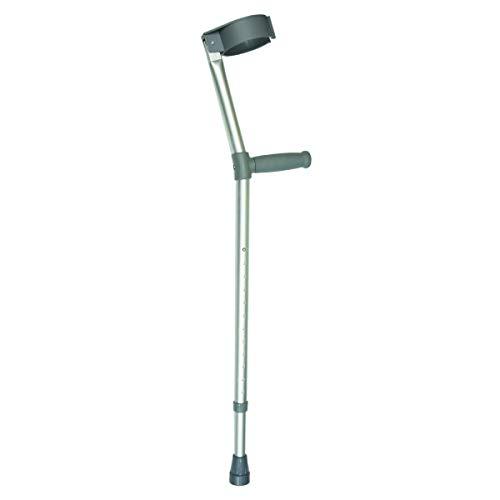 Days Einstellbare Krücken, Standard oder ergonomischer Griff, doppelt einstellbare, Griff zu Boden Höhe, Unterarmgehstütze Mithilfe, Leichte Gehhilfe
