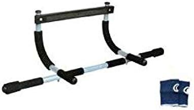 Pro Hanson Iron Gym Door Bar - Black - 150 Kg - Free Wrist Support