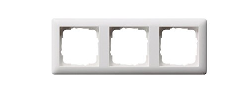 Gira Rahmen 021304 3fach Standard 55 reinweiss matt, Weiß