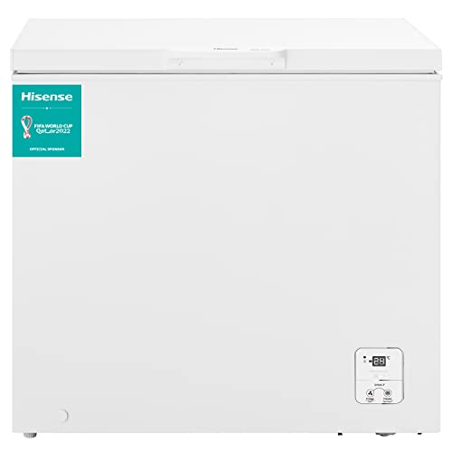 Hisense FT237D4BW21 - Arcón Congelador Horizontal, Eficiente, Cesta con asa, Función dual convertible en modo frigorífico, con 182 L de Capacidad, bajo nivel sonoro, color Blanco