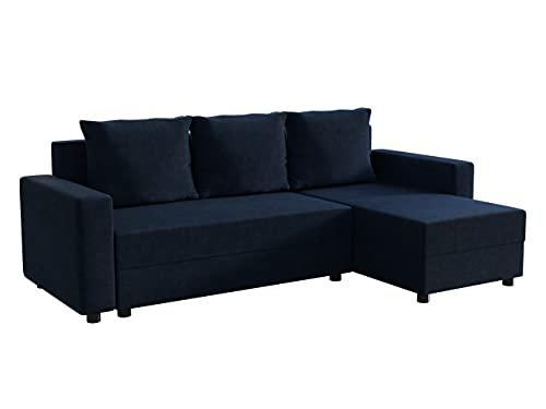 Mirjan24 Ecksofa Vibo! Eckcouch Sofa mit Bettkasten und Schlaffunktion! L-Form Couch, Ottomane Universal, Farbauswahl, Schlafsofa vom Hersteller (Mono 242)