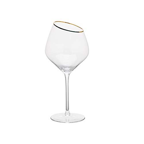 Einfachheit 500ml Abschrägung Rotweinglas Champagner Glas Cocktail Glas Kristallglas Stemware Glas Haushalt 8.3x24cm MUMUJIN