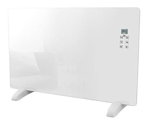 HAVERLAND CHRISTA-20 | Radiador Convector Eléctrico Portátil | 2000W | Diseño Moderno de Cristal | Programación 7 días | Touch Control | LCD | Mando a Distancia | Timer