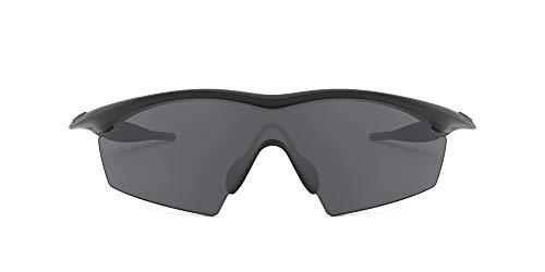 Oakley Men's OO9060 M Frame Strike Shield Sunglasses, Black/Grey, 29 mm